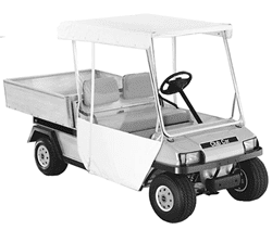 "Picture of Club Car Carryall White 3-sided Over-the-top Enclosure - W/ 56"" Top (Fits 1992-1997)"