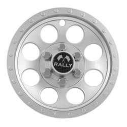 Picture of Silver/metallic rally wheel cover, 10""
