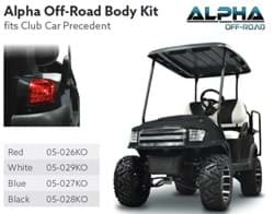 Picture of Black Alpha (PREC) Body Kit w/ Off-Road Grill & Light Kit