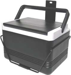 Picture of 12 quart cooler with brackets, passenger side