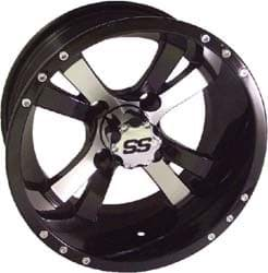 Picture of Wheel, 10x7 twister, Machined W/Black, 3+4 offset.