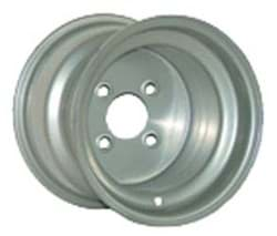 Picture of 10x6 steel wheel, silver, centered