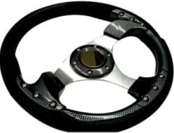 "Picture of 12.5"" Sport steering wheel kit with black adapter, carbon fiber"