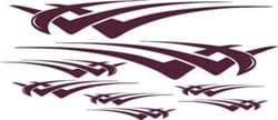 Picture of Burgundy metallic HAWK graphics