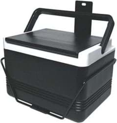 Picture of Igloo® cooler with bracket and hinged lid. black