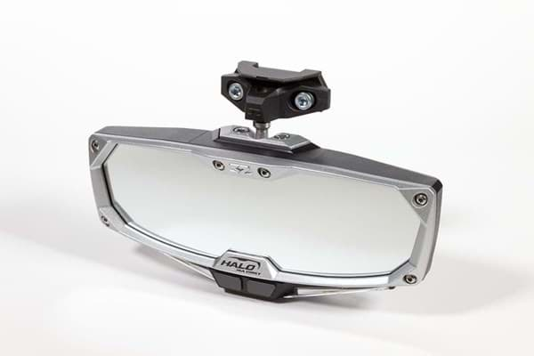 Picture of halo-ra led rear view mirror w/cast aluminum bezel - rzr pro xp