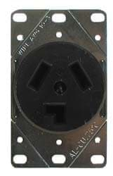 Picture of Receptacle for 3 blade D.C. plug